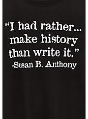 Susan B. Anthony Slim Fit Crew Tee - Black, DEEP BLACK, alternate