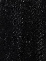 Black Shimmer Drape Front Cardigan, DEEP BLACK, alternate