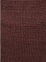 Rust Brown Yarn Open Front Cardigan, DEEP MAHOGANY, alternate