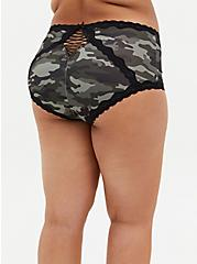 Camo Microfiber & Lace Brief Panty , COZY CAMO, alternate