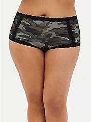 Camo Microfiber & Lace Brief Panty , COZY CAMO, hi-res