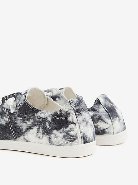 Riley - Black Tie-Dye Ruched Sneaker (WW), BLACK, alternate