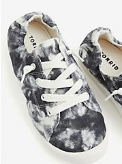 Riley - Black Tie-Dye Ruched Sneaker (WW), BLACK, hi-res
