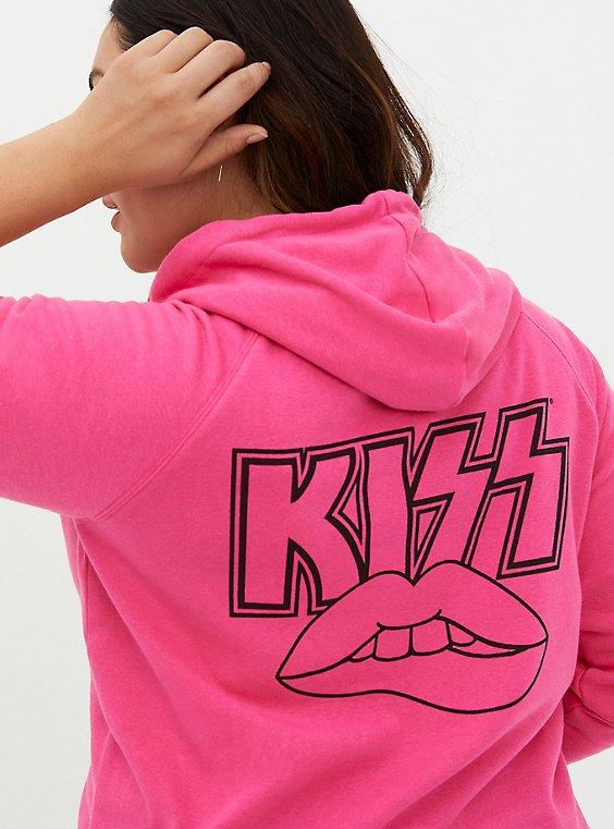 KISS Neon Pink Fleece Hoodie, PINK, hi-res