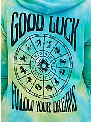 Green Tie-Dye Follow Dreams Hoodie, GREEN, alternate