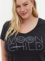 Moon Child Classic Fit V-Neck Tee - Black Mineral Wash, DEEP BLACK, alternate
