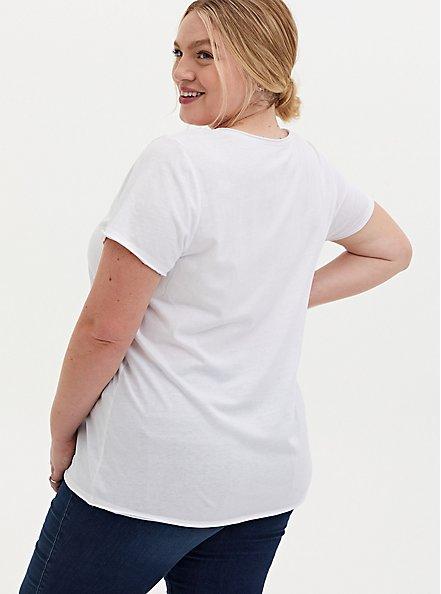 Classic Fit V-Neck Tee - Good Basics White, BRIGHT WHITE, alternate