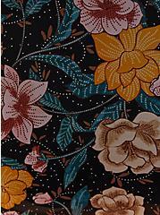 Black Floral Mesh Underwire Peplum One-Piece Swim, MULTI, alternate