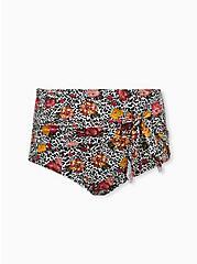 Leopard Floral High Waist Tie-Front Swim Bottom, MULTI, hi-res