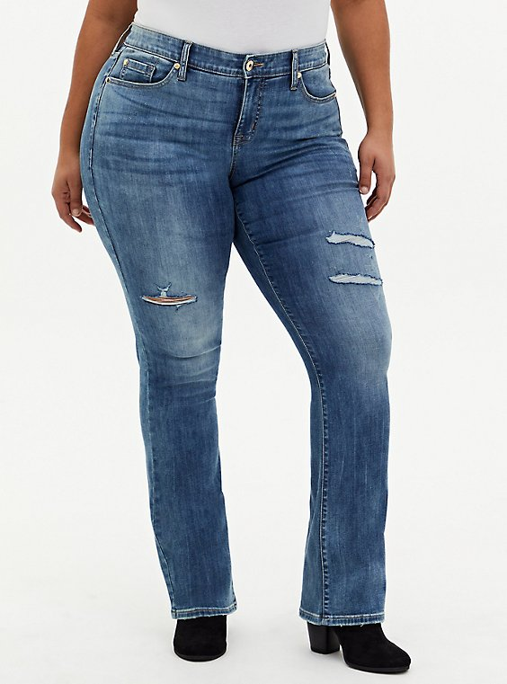 Mid Rise Slim Boot Jean - Super Soft Medium Wash, , hi-res