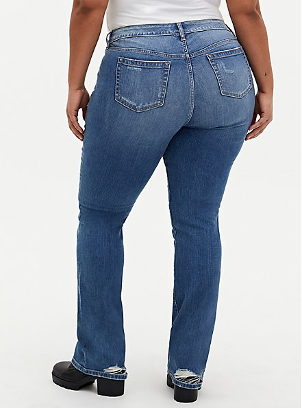 Plus Size Mid Rise Slim Boot Jean - Vintage Stretch Medium Wash, CANOODLE, alternate