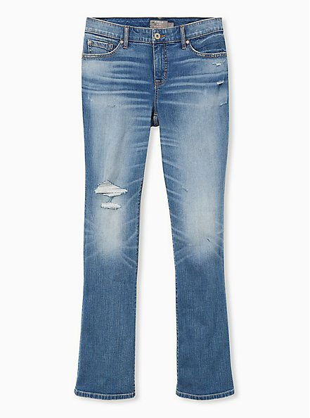 Plus Size Mid Rise Slim Boot Jean - Vintage Stretch Medium Wash, CANOODLE, hi-res