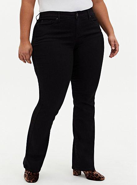 Mid Rise Slim Boot Jean - Super Soft Black, DEEP BLACK, hi-res