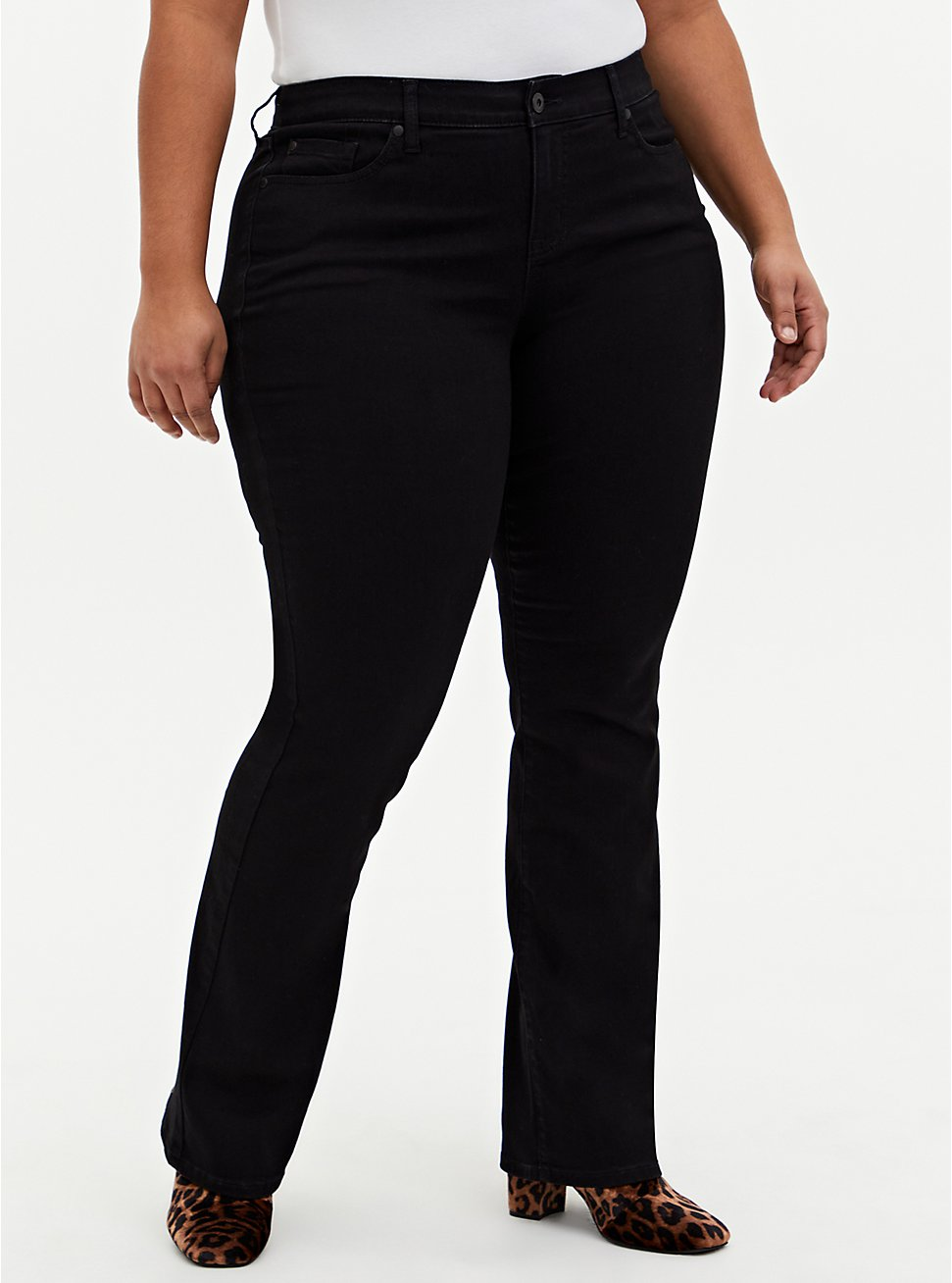Mid Rise Slim Boot Jean - Super Soft Black, DEEP BLACK, hi-res