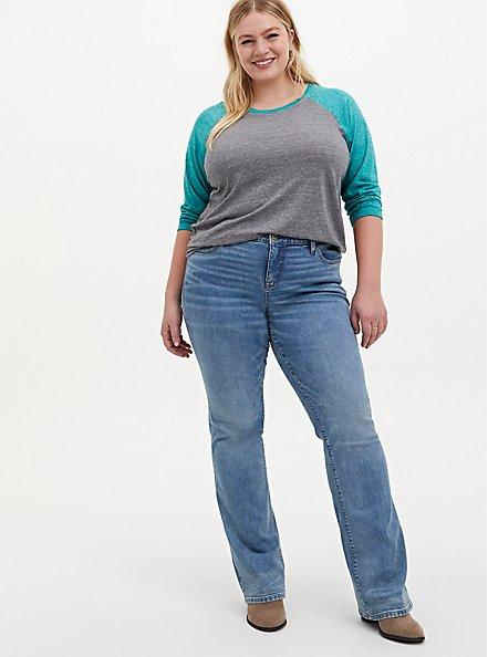 Mid Rise Slim Boot Jean - Vintage Stretch Light Wash, SARDEGNA, alternate