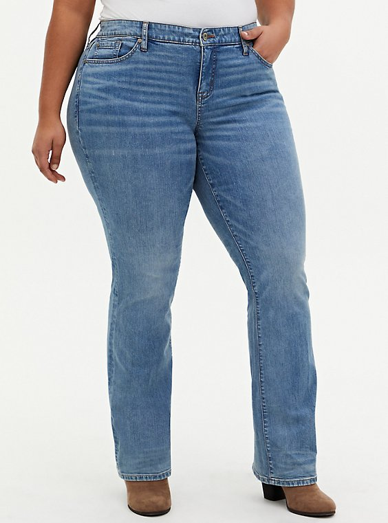 Mid Rise Slim Boot Jean - Vintage Stretch Light Wash, , hi-res