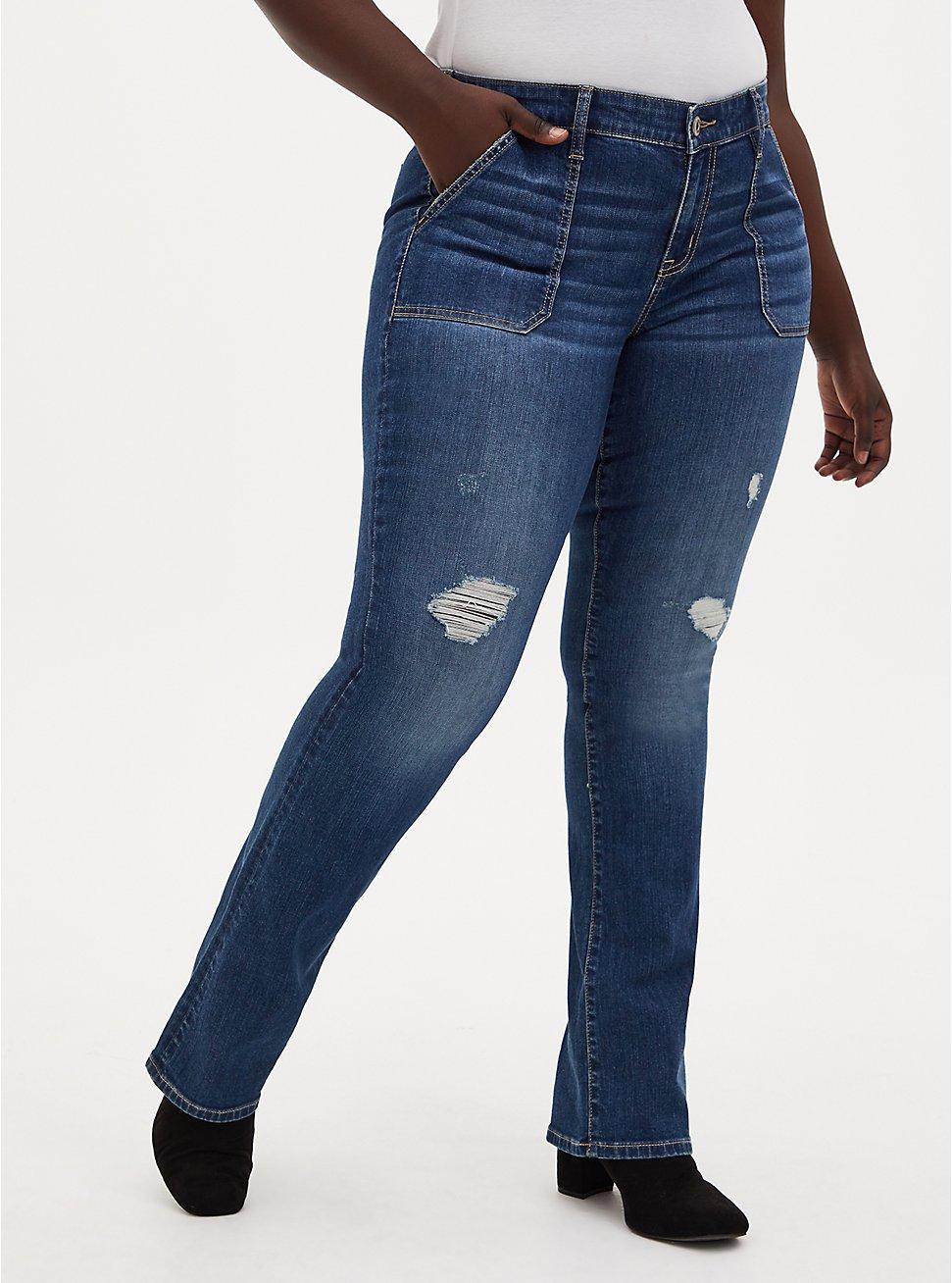 Mid Rise Slim Boot Jean - Vintage Stretch Eco Medium Wash, , fitModel1-hires