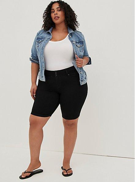 Jegging Bermuda Short - Super Soft Black, DEEP BLACK, alternate