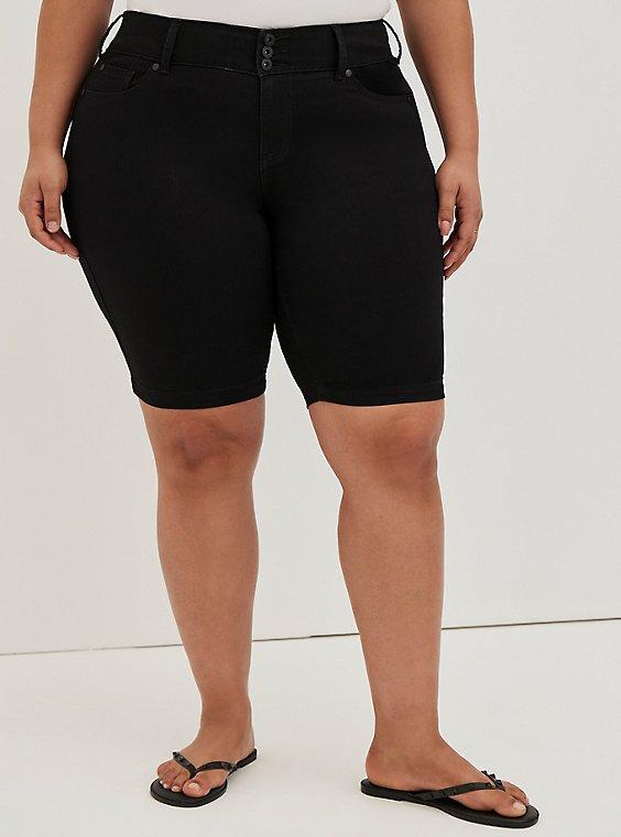 Plus Size Jegging Bermuda Short - Super Soft Black, DEEP BLACK, hi-res