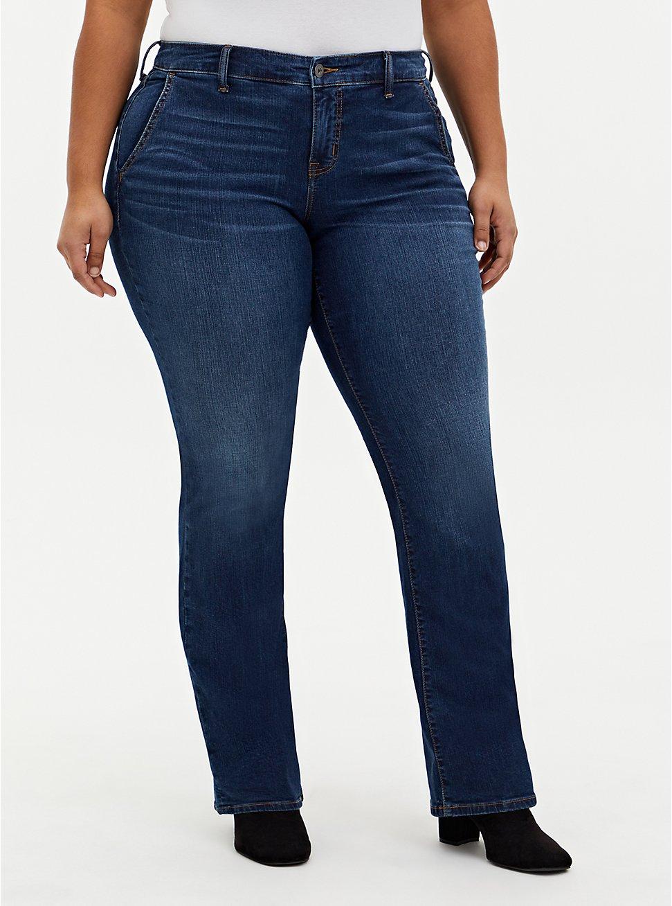 Mid Rise Slim Boot Jean - Vintage Stretch Medium Wash, UNDERCOVER, hi-res