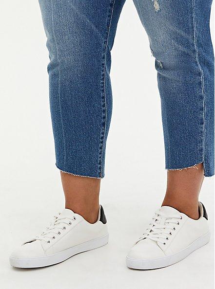 High Rise Straight Jean - Light Wash with Step Hem, WASHBACK, alternate