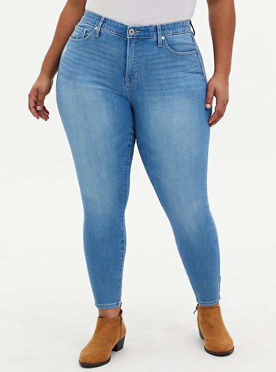 Sky High Skinny Jean - Premium Stretch Light Wash , , hi-res