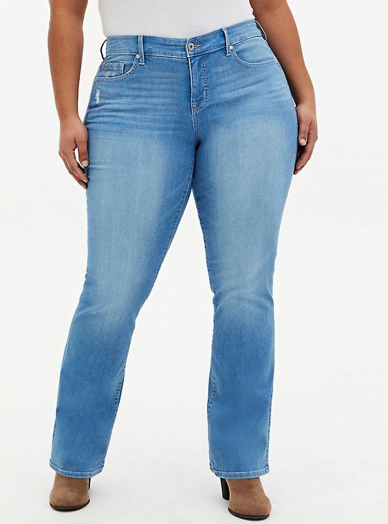 Mid Rise Slim Boot Jean - Premium Stretch Light Wash, BEVERLY HILLS, hi-res
