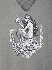 Favorite Crisscross Tunic - Super Soft Mermaid Heather Grey , MEDIUM HEATHER GREY, alternate
