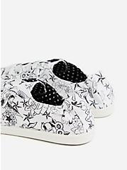 Betsey Johnson White Tattoo Ruched Sneaker (WW), WHITE, alternate