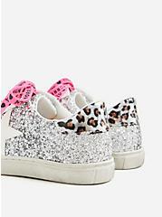 Plus Size Betsey Johnson Silver Glitter Distressed Sneaker (WW), SILVER, alternate