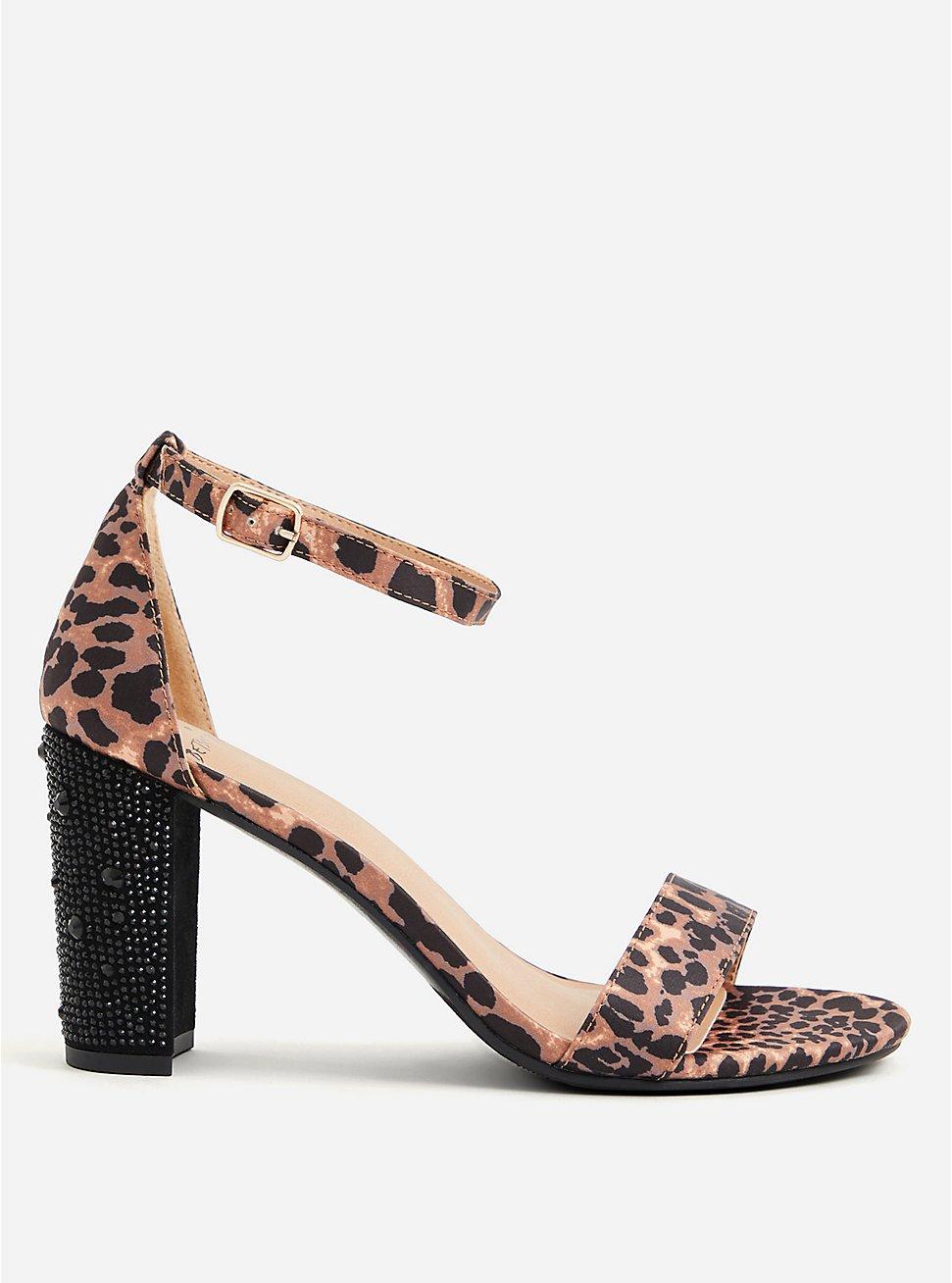 Betsey Johnson Leopard Glitter Tapered Heel (WW), ANIMAL, hi-res