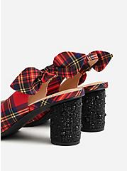 Betsey Johnson Red Cylinder Heel Pump (WW), PLAID, alternate