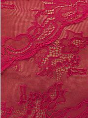 Raspberry Pink Microfiber & Lace back Hipster Panty , STRAWBERRY DAQUIRI, alternate