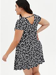 Disney Mickey Mouse Black A-Line Dress, MICKEY HEADS, alternate