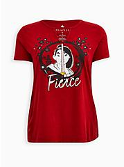 Disney Mulan Fierce Red Mineral Wash O-Ring Top, JESTER RED, hi-res