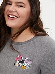 Disney Minnie & Daisy Heather Grey Fleece Sweatshirt , LIGHT HEATHER GREY, alternate