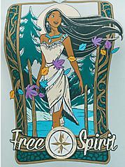 Disney Pocahontas Mint Blue Jersey Free Spirit Hoodie Tunic, HARBOR GRAY, alternate
