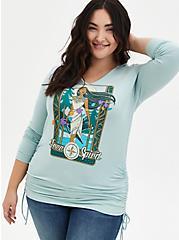 Disney Pocahontas Mint Blue Jersey Free Spirit Hoodie Tunic, HARBOR GRAY, hi-res