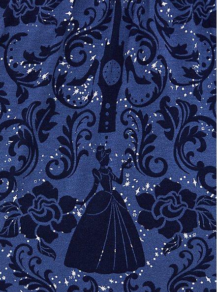 Disney Cinderella Navy Damask Strappy Babydoll Tunic, MULTI, alternate