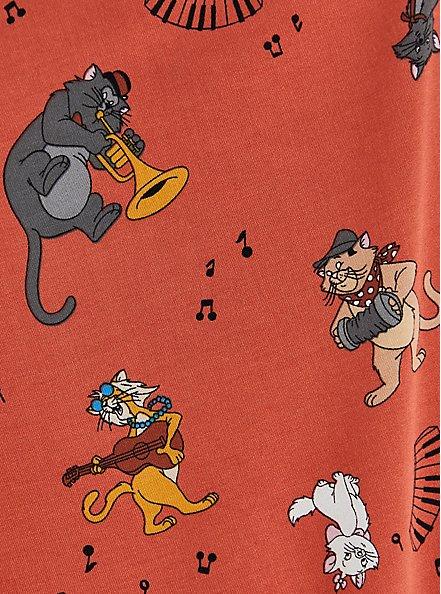 Disney Aristocats Multi Stretch Challis Zip Front Drawstring Tunic, MULTI, alternate