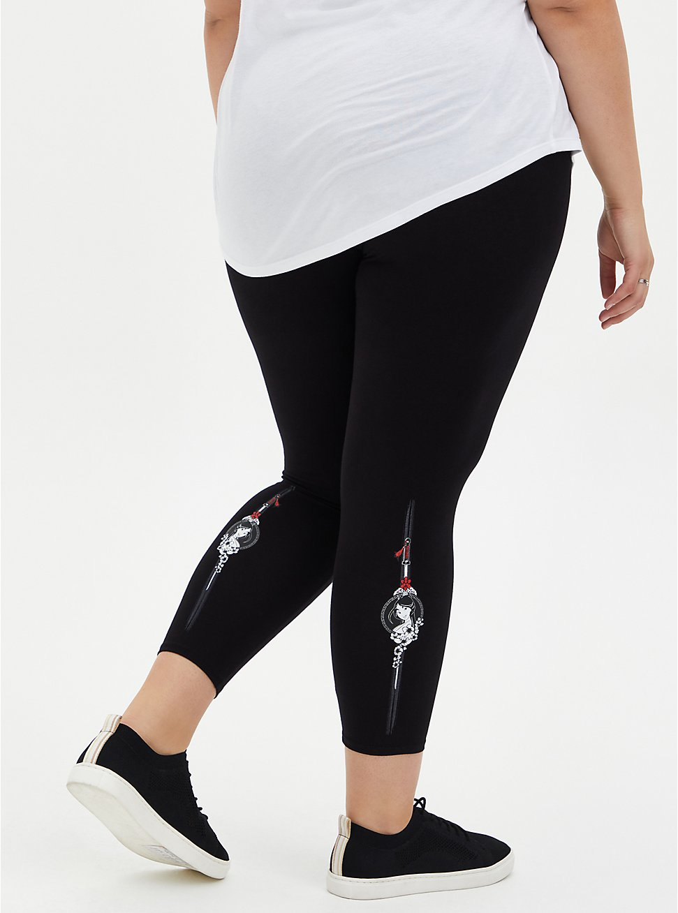 Disney Mulan Black Crop Legging, BLACK, hi-res