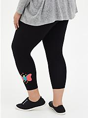 Disney Dumbo Crop Black Legging, BLACK, alternate