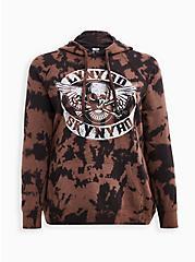 Lynyrd Skynyrd Black Bleach Tie-Dye Hoodie, DEEP BLACK, hi-res