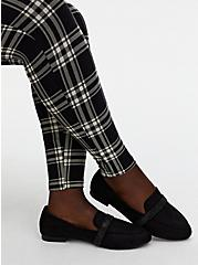 Black Faux Suede Embellished Band Loafer (WW), BLACK, alternate