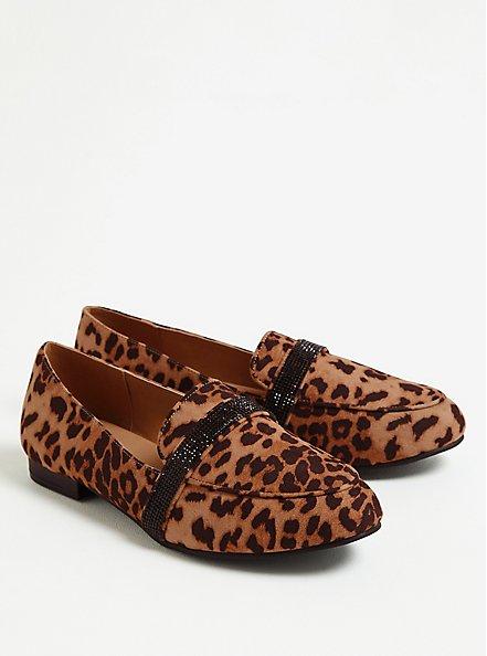 Leopard Faux Suede Embellished Band Loafer (WW), ANIMAL, alternate