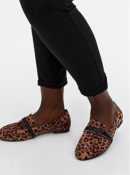 Leopard Faux Suede Embellished Band Loafer (WW), ANIMAL, hi-res