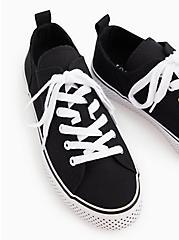 Black Canvas Polka Dot Sole Sneaker (WW), BLACK, alternate