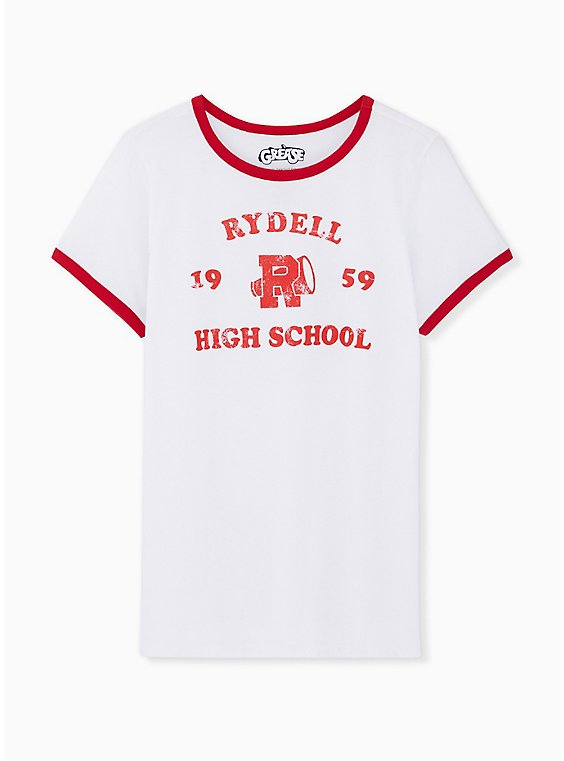 Grease Rydell High Classic Fit Ringer Tee - White, , hi-res