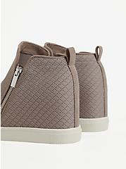 Taupe Quilted Knit Wedge Sneaker, TAN/BEIGE, alternate
