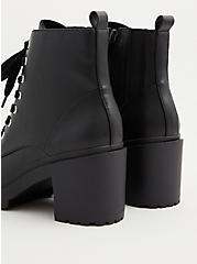Plus Size Black Chunky Lace-Up Hiker Boot (WW), BLACK, alternate